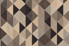 36786-4 cikkszámú tapéta.Absztrakt,geometriai mintás,arany,barna,súrolható,vlies tapéta