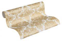 37090-2 cikkszámú tapéta.Csillámos,marokkói ,arany,fehér,súrolható,vlies tapéta