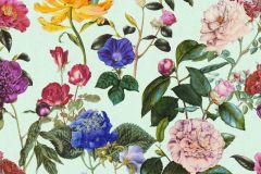 37336-2 cikkszámú tapéta.Virágmintás,kék,lila,türkiz,súrolható,vlies tapéta