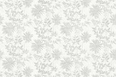 36084-2 cikkszámú tapéta.Csillámos,virágmintás,fehér,szürke,súrolható,vlies tapéta