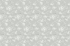 36086-3 cikkszámú tapéta.Csillámos,virágmintás,ezüst,szürke,súrolható,vlies tapéta