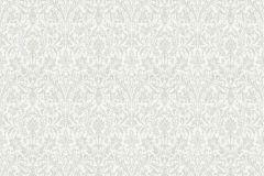 36087-1 cikkszámú tapéta.Barokk-klasszikus,csillámos,virágmintás,ezüst,fehér,súrolható,vlies tapéta