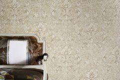 96215-2 cikkszámú tapéta.Barokk-klasszikus,különleges felületű,retro,barna,bézs-drapp,fehér,vajszín,súrolható,vlies tapéta