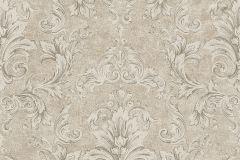 96215-3 cikkszámú tapéta.Barokk-klasszikus,különleges felületű,rajzolt,bézs-drapp,fehér,szürke,súrolható,vlies tapéta