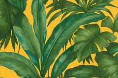 96240-3 cikkszámú tapéta.Természeti mintás,sárga,türkiz,zöld,súrolható,vlies tapéta
