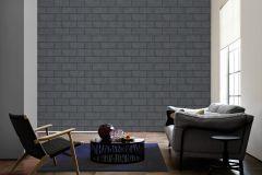 34322-6 cikkszámú tapéta.Konyha-fürdőszobai,kőhatású-kőmintás,különleges felületű,fekete,szürke,súrolható,vlies tapéta