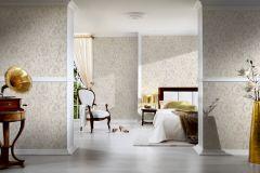 34326-3 cikkszámú tapéta.Barokk-klasszikus,különleges felületű,virágmintás,bézs-drapp,vajszín,súrolható,vlies tapéta