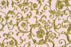 34326-4 cikkszámú tapéta.Barokk-klasszikus,különleges felületű,virágmintás,arany,pink-rózsaszín,súrolható,vlies tapéta