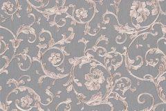 34326-5 cikkszámú tapéta.Barokk-klasszikus,különleges felületű,virágmintás,bézs-drapp,pink-rózsaszín,szürke,súrolható,vlies tapéta