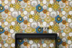 34901-1 cikkszámú tapéta.Különleges motívumos,rajzolt,barokk-klasszikus,geometriai mintás,konyha-fürdőszobai,különleges felületű,arany,ezüst,fehér,kék,lila,narancs-terrakotta,pink-rózsaszín,szürke,súrolható,vlies tapéta