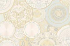 34901-2 cikkszámú tapéta.állatok,barokk-klasszikus,konyha-fürdőszobai,különleges felületű,különleges motívumos,virágmintás,ezüst,fehér,kék,pink-rózsaszín,zöld,súrolható,vlies tapéta