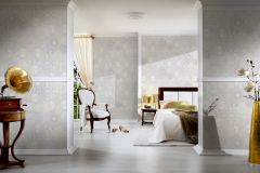 34901-4 cikkszámú tapéta.állatok,barokk-klasszikus,konyha-fürdőszobai,különleges felületű,különleges motívumos,rajzolt,ezüst,fehér,szürke,súrolható,vlies tapéta
