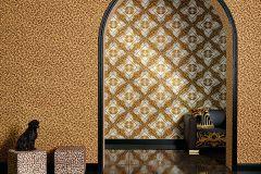 34904-3 cikkszámú tapéta.állatok,barokk-klasszikus,különleges felületű,különleges motívumos,arany,barna,vajszín,súrolható,vlies tapéta