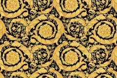 93583-4 cikkszámú tapéta.Barokk-klasszikus,különleges felületű,virágmintás,arany,fekete,súrolható,vlies tapéta