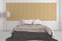 36692-5 cikkszámú tapéta.Barokk-klasszikus,különleges felületű,arany,fehér,súrolható,vlies tapéta