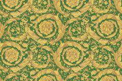 36692-6 cikkszámú tapéta.Barokk-klasszikus,különleges felületű,arany,zöld,súrolható,vlies tapéta