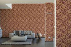 36692-7 cikkszámú tapéta.Barokk-klasszikus,különleges felületű,arany,piros-bordó,súrolható,vlies tapéta