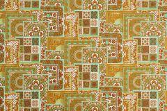 37048-2 cikkszámú tapéta.Barokk-klasszikus,geometriai mintás,különleges felületű,arany,fehér,zöld,súrolható,vlies tapéta