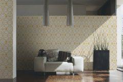 37049-1 cikkszámú tapéta.Barokk-klasszikus,geometriai mintás,különleges felületű,arany,fehér,súrolható,vlies tapéta