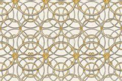 37049-2 cikkszámú tapéta.Barokk-klasszikus,geometriai mintás,különleges felületű,arany,fehér,szürke,súrolható,vlies tapéta