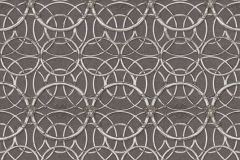 37049-5 cikkszámú tapéta.Barokk-klasszikus,geometriai mintás,különleges felületű,gyöngyház,szürke,súrolható,vlies tapéta