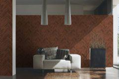 37051-3 cikkszámú tapéta.Absztrakt,barokk-klasszikus,fa hatású-fa mintás,különleges felületű,barna,piros-bordó,súrolható,vlies tapéta