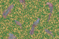 37053-3 cikkszámú tapéta.állatok,barokk-klasszikus,különleges felületű,arany,kék,lila,zöld,súrolható,vlies tapéta