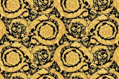 93583-4 cikkszámú tapéta.Barokk-klasszikus,különleges felületű,metál-fényes,arany,fekete,súrolható,vlies tapéta