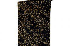 93585-4 cikkszámú tapéta.Barokk-klasszikus,különleges felületű,metál-fényes,virágmintás,arany,fekete,súrolható,vlies tapéta