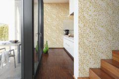 93585-5 cikkszámú tapéta.Barokk-klasszikus,különleges felületű,metál-fényes,virágmintás,arany,bézs-drapp,súrolható,vlies tapéta