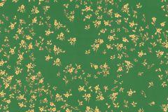93585-6 cikkszámú tapéta.Barokk-klasszikus,különleges felületű,metál-fényes,virágmintás,arany,zöld,súrolható,vlies tapéta