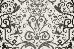 93545-2 cikkszámú tapéta.Barokk-klasszikus,fehér,fekete,súrolható,vlies tapéta
