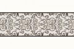 93547-2 cikkszámú tapéta.Barokk-klasszikus,szürke,fekete,súrolható,vlies bordűr