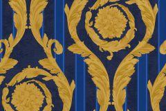 93568-1 cikkszámú tapéta.Csíkos,barokk-klasszikus,kék,arany,súrolható,vlies tapéta
