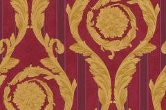 93568-3 cikkszámú tapéta.Csíkos,barokk-klasszikus,piros-bordó,arany,súrolható,vlies tapéta