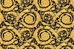 93583-4 cikkszámú tapéta.Barokk-klasszikus,fekete,arany,súrolható,vlies tapéta