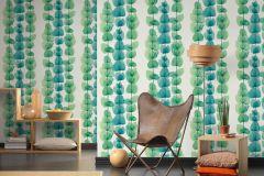 34245-4 cikkszámú tapéta.Absztrakt,csíkos,dekor tapéta ,különleges felületű,különleges motívumos,rajzolt,természeti mintás,fehér,kék,zöld,súrolható,illesztés mentes,vlies tapéta
