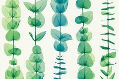 34246-4 cikkszámú tapéta.Absztrakt,csíkos,dekor tapéta ,különleges motívumos,rajzolt,természeti mintás,fehér,kék,zöld,súrolható,illesztés mentes,vlies tapéta