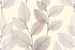 34247-2 cikkszámú tapéta.Absztrakt,különleges motívumos,rajzolt,természeti mintás,fehér,lila,szürke,súrolható,vlies tapéta