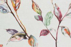 219455 cikkszámú tapéta.Különleges felületű,rajzolt,természeti mintás,virágmintás,bézs-drapp,kék,lila,narancs-terrakotta,pink-rózsaszín,piros-bordó,zöld,erősen súrolható,vlies tapéta