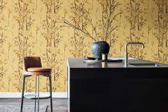 219461 cikkszámú tapéta.Különleges felületű,rajzolt,természeti mintás,barna,sárga,erősen súrolható,vlies tapéta