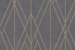 219712 cikkszámú tapéta.Absztrakt,geometriai mintás,különleges felületű,bronz,szürke,lemosható,vlies tapéta