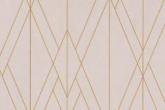 219713 cikkszámú tapéta.Absztrakt,geometriai mintás,különleges felületű,arany,pink-rózsaszín,lemosható,vlies tapéta