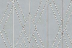 219715 cikkszámú tapéta.Absztrakt,geometriai mintás,különleges felületű,barna,ezüst,kék,lemosható,vlies tapéta