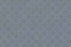 219721 cikkszámú tapéta.Absztrakt,geometriai mintás,különleges felületű,ezüst,kék,narancs-terrakotta,lemosható,vlies tapéta