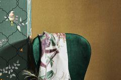 219183 cikkszámú tapéta.állatok,különleges felületű,természeti mintás,kék,lila,narancs-terrakotta,sárga,szürke,zöld,erősen súrolható,vlies tapéta