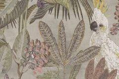 220121 cikkszámú tapéta.állatok,különleges felületű,természeti mintás,barna,fehér,szürke,zöld,erősen súrolható,vlies tapéta