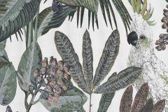 220125 cikkszámú tapéta.állatok,különleges felületű,természeti mintás,fehér,szürke,zöld,erősen súrolható,vlies tapéta