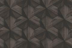 218410 cikkszámú tapéta.3d hatású,különleges felületű,barna,erősen súrolható,vlies tapéta