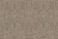 4502 cikkszámú tapéta.Barokk-klasszikus,rajzolt,retro,virágmintás,bézs-drapp,bronz,lemosható,vlies tapéta